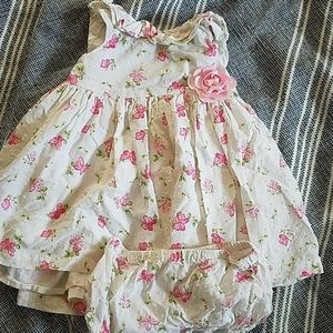 Summer baby dress with bloomers